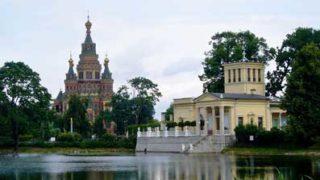 Ольгин пруд в Колонистском парке Петергофа