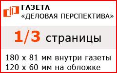 """1/3 страницы в газете """"Деловая перспектива"""""""
