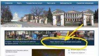 Опрос о качестве уборки районов СПб