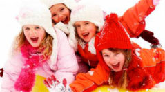 Детский праздник зимой