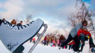 Зимние забавы - коньки, лыжи, санки