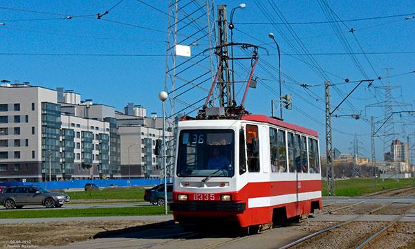 Остановка трамвая № 36 Петергофское шоссе