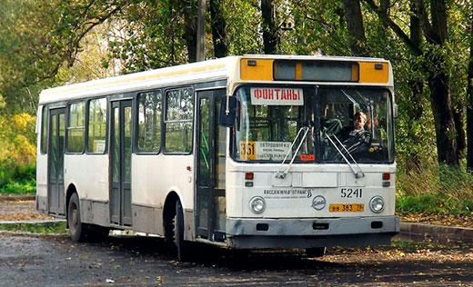 Автобус на фонтаны